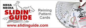 Slidin'Guide NRHA NRCHA Reining Pattern Cards