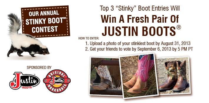Boot Barn and Justin's Annual Stinky Boot Contest