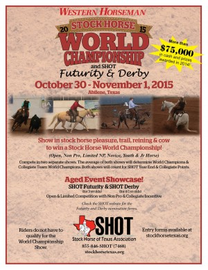 SHOT Stock Horse of Texas 2015 World Championship Show