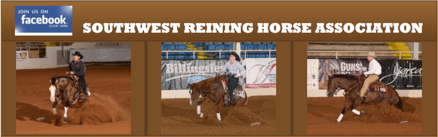 Southwest Reining Horse Association – 2017 Reining Events
