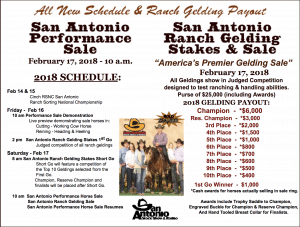 2018 San Antonio Performance Horse Sale & Ranch Gelding Stakes & Sale
