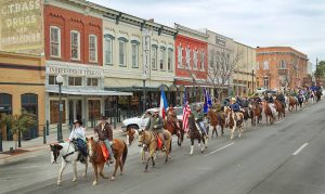 GRA Trail Riders Visit Downtown San Marcos En Route To San Antonio Stock Show & Rodeo
