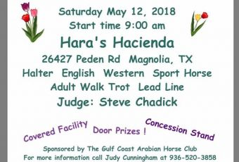 CGAHC Spring Fling Open Horse Show – May 12, 2018 – Magnolia, TX